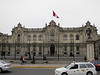 The presidential palace in the Plaza de Armas, Lima