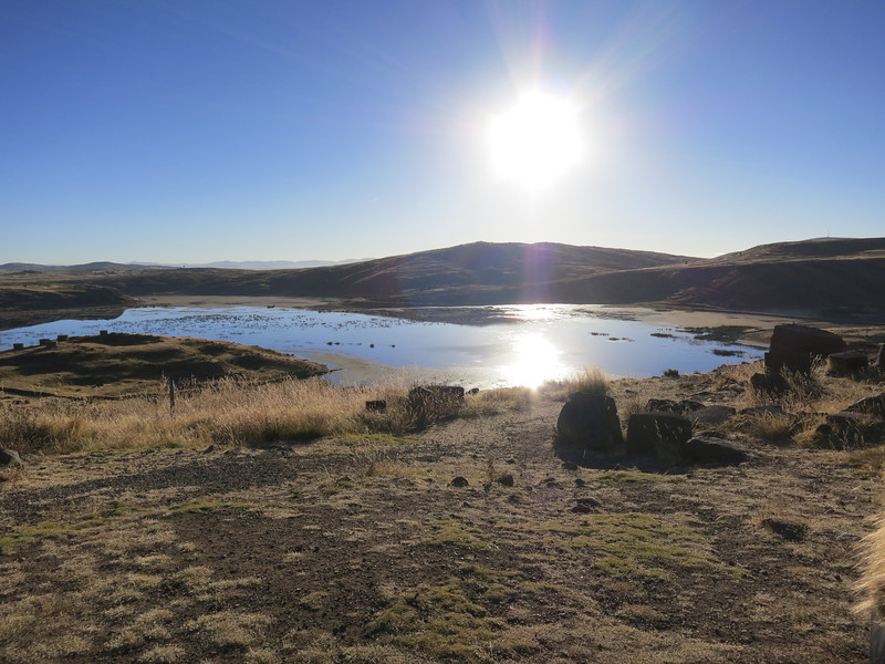 Part of the Laguna Umayo, the lake that almost completely surrounds the Sillustani grave site.