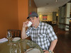 Aaron, gracefully enjoying his coca tea at breakfast in Cuzco. Note the pinky action.