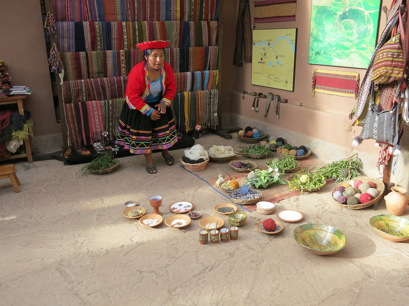 A demonstration of how the Incas and Peruvians create the vivid textiles with natural ingredients.