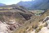 A view down into the Urubamba Valley from the road on the way to the salt works