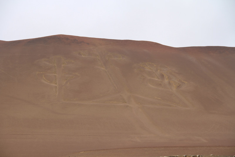 """El Candelabro - the Candelabra. Similar to the Nazca lines, but right on the ocean. I kept reading the name as """"El Candela, Bro!"""". 'Sup!"""