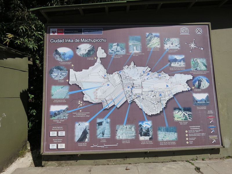 The sun bleached map outside the entrance