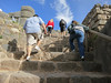 And then we had to climb some steps.