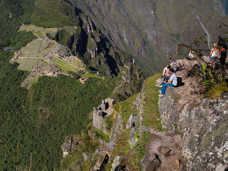 Machu Picchu viewed from the top of Huayna Picchu
