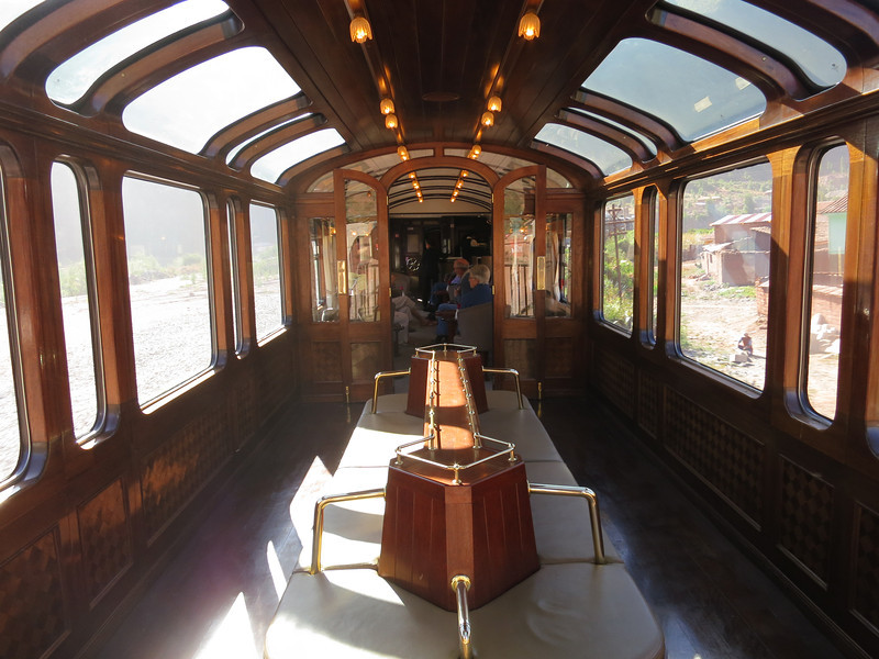 The last car was the bar and observation car - this part was covered, but the back was open. Also, this is where the fashion show took place.