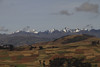 The peaks of the Andes, off in the distance outside of Chinchero.