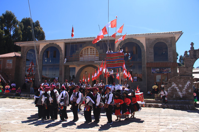 One of the various groups in the festival
