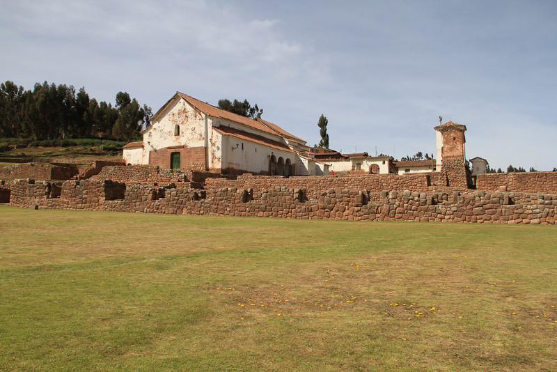 The Catholic Church in Chinchero, built on the knocked over Incan temples. The Church part was pretty beat up, but the Incan walls were in great shape still.
