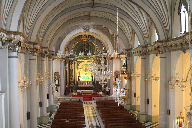 Inside the church at the Convent
