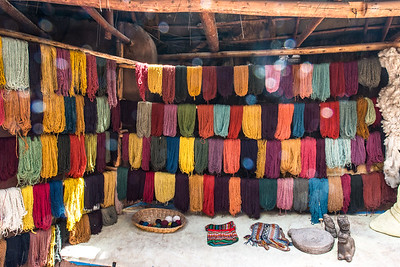 """Colorful """"earth"""" dyed yarns."""