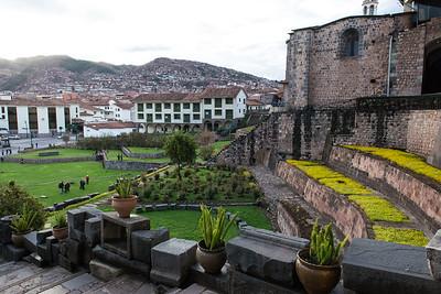 Terraced gardens.