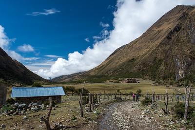 Walking through the village of Soraypampa.