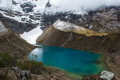Beautiful glacier fed lake.