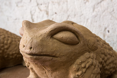 Ceramic frog.
