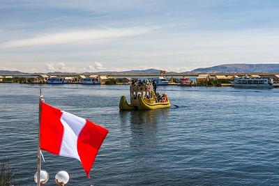 Floating Isle of Uros, Lake Titicaca - Peru.