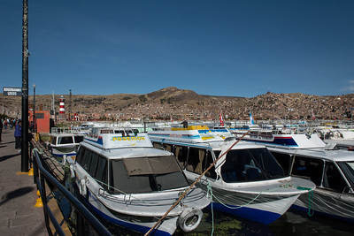 Boat dock in Puno.