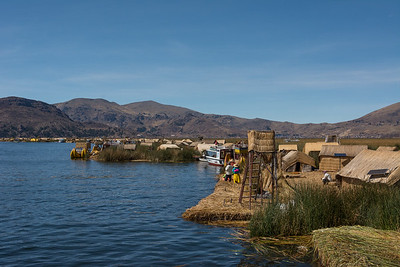 Floating Isle of Uros, Lake Titicaca - Peru.