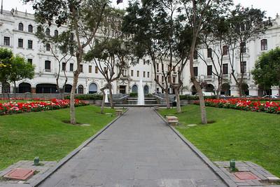 Plaza San Martin - central Lima.