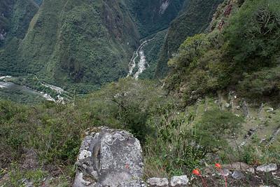 View down to the Urubamba River.