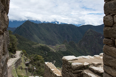 Looking down on Machu Picchu from the Sun Gate.