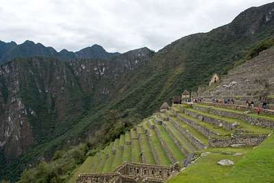 Agricultural terraces and storehouses.