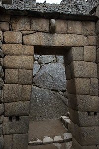 Trapezoid doorway, Inca Temple.