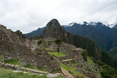Overlooking the ruins.
