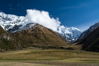 Humantay (left) and Salkantay Mtn's.