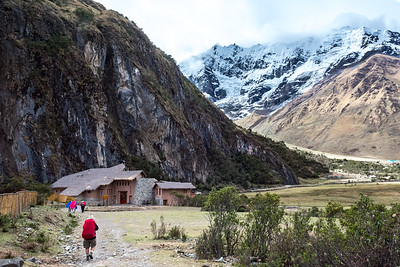 Approaching the Salkantay Lodge.