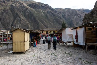 Marketplace at the ruins.
