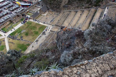 Looking down to the Temple ruins.