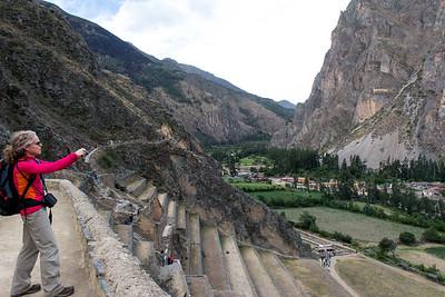 Ollantaytambo Temple Fortress Ruins - Ollantaytambo, Peru.