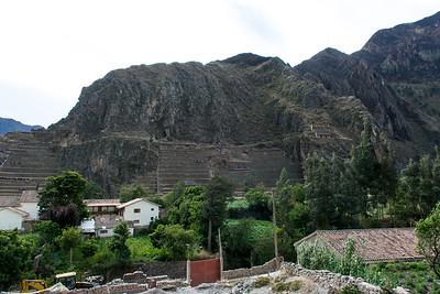 View Ollantaytambo Temple Fortress Ruins.