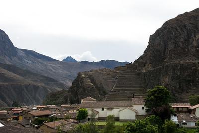 Ollantaytambo Temple Fortress Ruins.