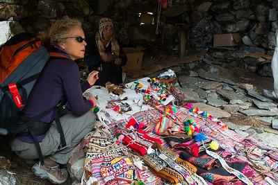 Inside the souvenir shop.