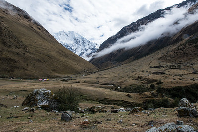 Vilcambamba Mountain Range, Peru.The Rio Blanca Valley - Vilcambamba Mountain Range, Peru.