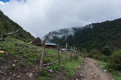 Farm along the trail.
