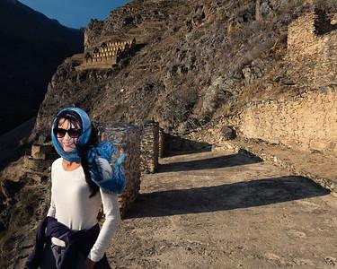 Ann at Ollantaytambo