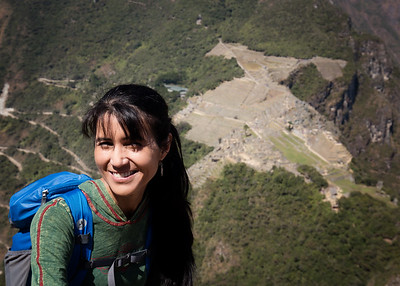 Ann view from Huayna Picchu
