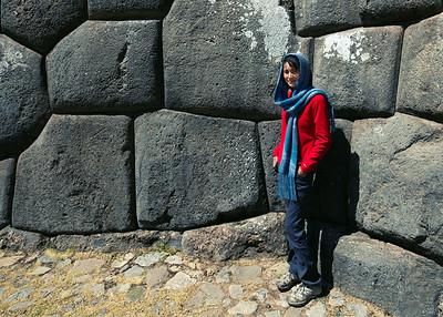 Ann at Sacsaywaman