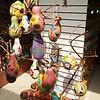 Lima: Indian Market: Gourd bird houses