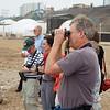 Lima: San Felipe coast: Group looking for birds, David with binoculars
