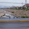 Lima: Crossing Rio Rimac, running very low