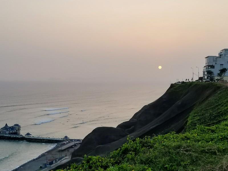 Sunset on the Lima coast