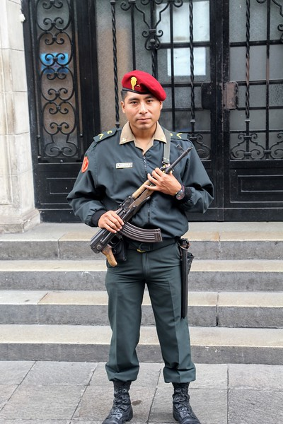 Presidential Palace guard in Lima