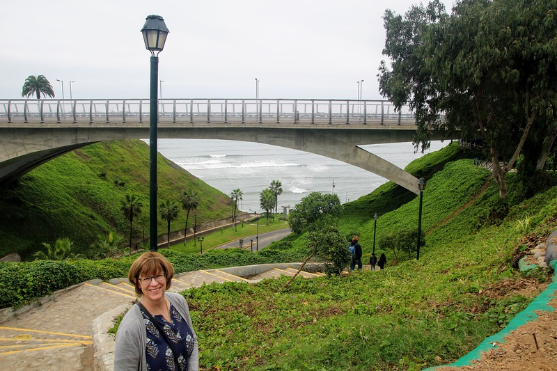 Kathy at the Lima coast