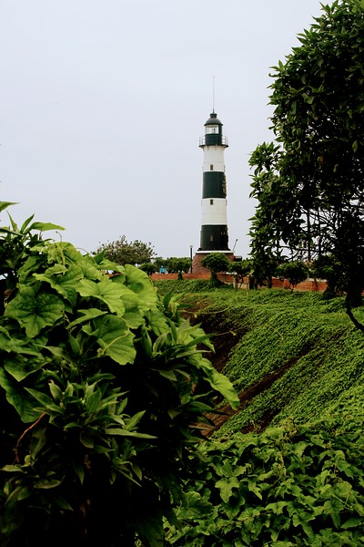 Light house on the Lima coast