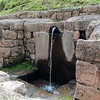 Still working fountain at the Pisac ruins. The water is fed through an underground aqueduct.