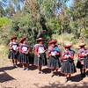The welcoming party at the Taucca community near Chinchero